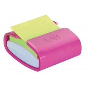 Podajnik do bloczków samoprzylepnych POST-IT® Pro (PRO-C-1SSC), fioletowy, w zestawie 1 bloczek Super Sticky Z-Notes