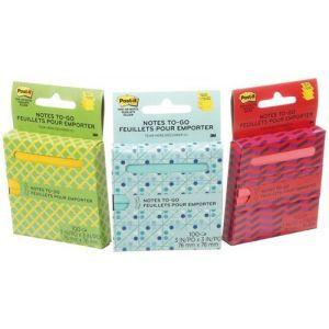 Karteczki samoprzylepne Post-it® Z-Notes On The Go (R330-OTG), 76x76mm, 1x100 kart., w kartonowym podajniku, mix kolorów