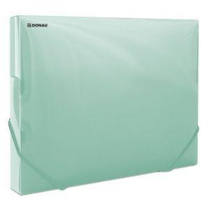 Teczka z gumką przestrz. DONAU, PP, A4/30, 700mikr., transparentna zielona