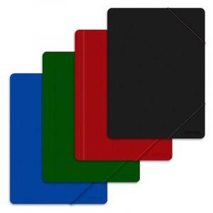 Teczka z gumką OFFICE PRODUCTS, A4, PP, 500mikr., 3-skrz., mix kolorów