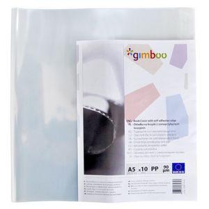 Okładka na książki GIMBOO z samoprzylepnym brzegiem, 25x46cm, 10szt., transparentna