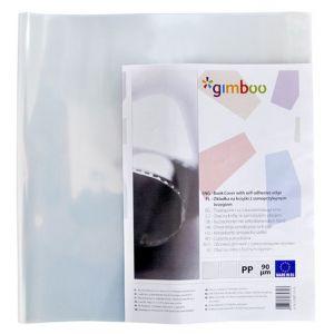Okładka na książki GIMBOO z samoprzylepnym brzegiem, 30,5x54cm, 10szt., transparentna