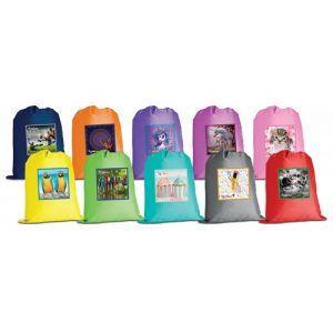 Worek szkolny GIMBOO, z nadrukiem, mix kolorów