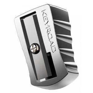 Temperówka KEYROAD, aluminiowa, pojedyńcza, pakowana na displayu, srebrna