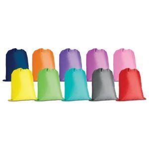 Worek szkolny GIMBOO bez nadruku, mix kolorów