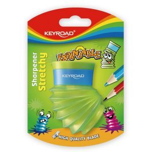 Pencil sharpener KEYROAD Stretch Expandable, plastic, double, blister pack, color mix