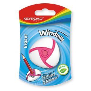 Gumka uniwersalna KEYROAD Windmill, blister, mix kolorów