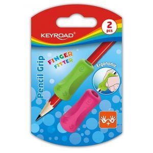 Uchwyt ergonomiczny KEYROAD Pencil Grip, 2szt., blister, mix kolorów