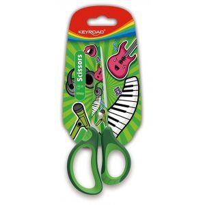 Nożyczki szkolne KEYROAD Tatto Soft, 15cm, blister, mix kolorów