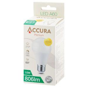Żarówka LED ACCURA Premium, bańka, E27, 10W