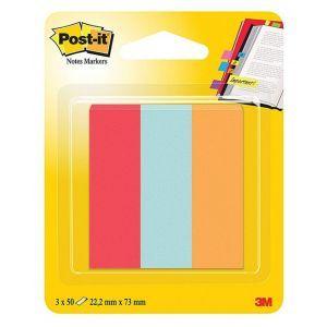 Zakładki indeksujące POST-IT® (671-PBO), papier, 22,2x73mm, 3x50 kart., mix kolorów