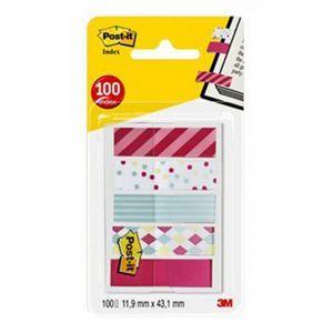 Zakładki indeksujące POST-IT® Mini (684-CAN5), PP, 11,9x43,2mm, 5x20 kart., mix kolorów
