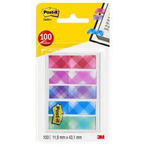 Zakładki indeksujące POST-IT® Mini (684-PLD5), PP, 11,9x43,2mm, 5x20 kart., mix kolorów