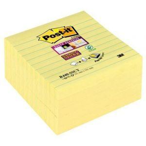 Karteczki samoprzylepne POST-IT® Super Sticky Z-Notes XL w linię (R440-SSCY), 101x101mm, 5x90 kart., żółte