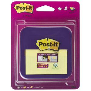 Sticky notes dispenser POST-IT® Z-Notes (VD-330), purple, set of Super Sticky Z-Notes