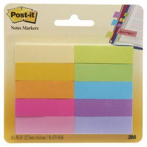 Zakładki indeksujące POST-IT® (670-10AB), papier, 12,7x44,4mm, 10x50 kart., mix kolorów