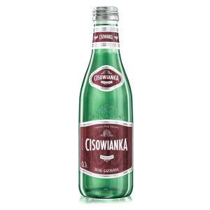 Woda CISOWIANKA, silnie gazowana, butelka szklana, 0,3l