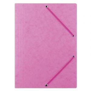 Teczka z gumką DONAU, preszpan, A4, 390gsm, 3-skrz., różowa