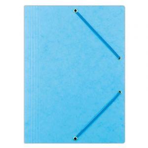 Teczka z gumką DONAU, preszpan, A4, 390gsm, 3-skrz., jasnoniebieska