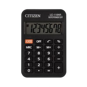 Pocket calculator CITIZEN LC110NR, 8 digits, 88x58mm, black