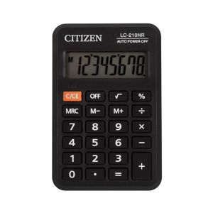 Pocket calculator CITIZEN LC210NR, 8 digits, 98x64mm, black