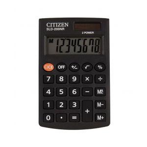 Pocket calculator CITIZEN SLD-200NR, 8 digits, 98x62mm, black