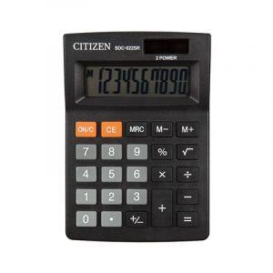 Office calculator CITIZEN SDC-022SR, 10 digits, 127x88mm, black