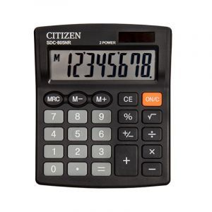 Office calculator CITIZEN SDC-805NR, 8 digits, 120x105mm, black