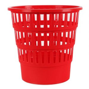 Kosz na śmieci OFFICE PRODUCTS, ażurowy, 16l, czerwony
