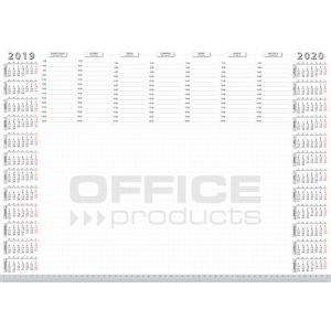 Podkładka na biurko OFFICE PRODUCTS, planer 2019/2020, biuwar, A2, 52 ark.