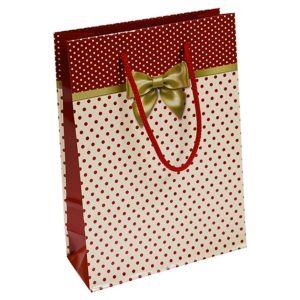 Torebka na prezenty OFFICE PRODUCTS, laminowana, 20x8x28cm, całoroczna, mix wzorów