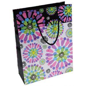 Torebka na prezenty OFFICE PRODUCTS, laminowana, 24x10x32cm, całoroczna, mix wzorów