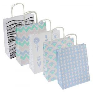 Torebka na prezenty OFFICE PRODUCTS, papierowa, 18x8x22,5cm, jednolita, pastelowa, mix wzorów