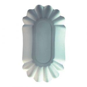 Tacka papierowa biała 10,5 x 20 cm zaokrąglone rogi op.250szt.