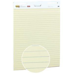 Samoprzylepne arkusze konferencyjne Post-it® Super Sticky, na flipchart, 63,5x76,2cm, w linię do list zadań i agend, 30 kart., ż