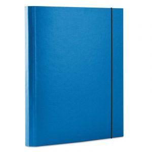 Teczka z gumką OFFICE PRODUCTS, PP, A4/30, 3-skrz., niebieska