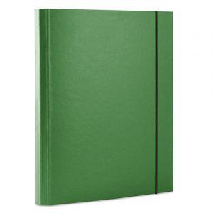 Teczka z gumką OFFICE PRODUCTS, PP, A4/30, 3-skrz., zielona