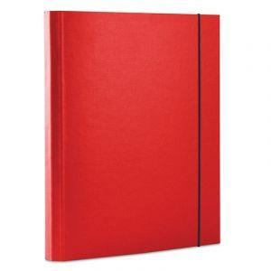 Teczka z gumką OFFICE PRODUCTS, PP, A4/30, 3-skrz., czerwona