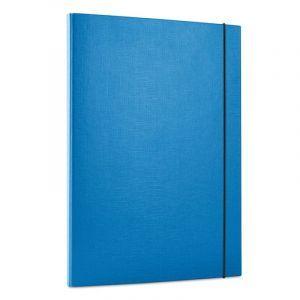 Teczka z gumką OFFICE PRODUCTS, PP, A4/15, 3-skrz., niebieska
