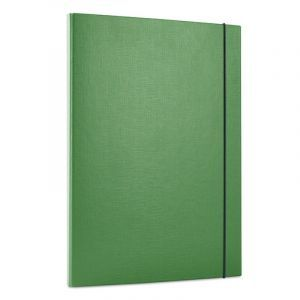 Teczka z gumką OFFICE PRODUCTS, PP, A4/15, 3-skrz., zielona