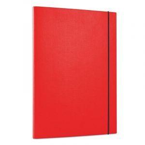 Teczka z gumką OFFICE PRODUCTS, PP, A4/15, 3-skrz., czerwona
