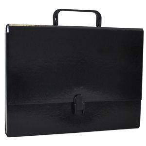 Teczka-pudełko OFFICE PRODUCTS, PP, A4/5cm, z rączką i zamkiem, czarna