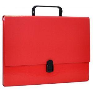 Teczka-pudełko OFFICE PRODUCTS, PP, A4/5cm, z rączką i zamkiem, czerwona