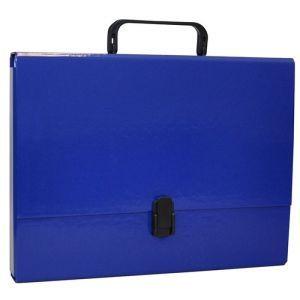 Teczka-pudełko OFFICE PRODUCTS, PP, A4/5cm, z rączką i zamkiem, granatowa