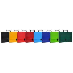 Teczka-pudełko OFFICE PRODUCTS, PP, A4/5cm, z rączką i zamkiem, mix kolorów