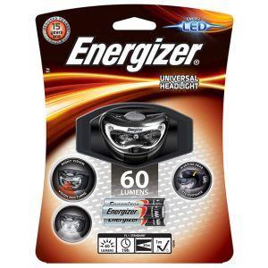 ENERGIZER Headlight Universal 3 Led + 3pcs AAA batteries, black