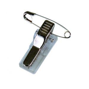 Klipsy do identyfikatorów OFFICE PRODUCTS, z agrafką, 12x30x16mm, 100szt.