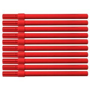 Flamaster biurowy OFFICE PRODUCTS, 10szt., czerwony