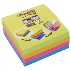 Multi kostka samoprzylepna POST-IT® Super Sticky (2014-SC-BYFG),76x76mm, 4x75 kart., mix kolorów