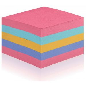 Self-adhesive cube POST-IT® Super Sticky (2028-SS-RBWC), 76x76mm, 1x440 sheets,color mix